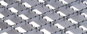 Gitterroste / Pressroste aus high-solid hochfestem Bandstahl - Tabelle - Ausführung, rutschhemmend, gezackt